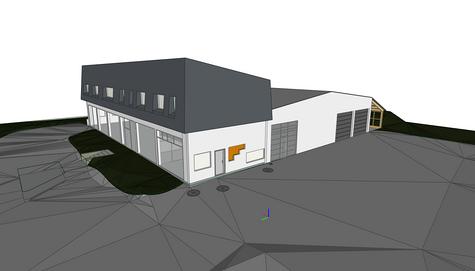 Maquette 3D d'un bâtiment en reconversion - Treveneuc (22)