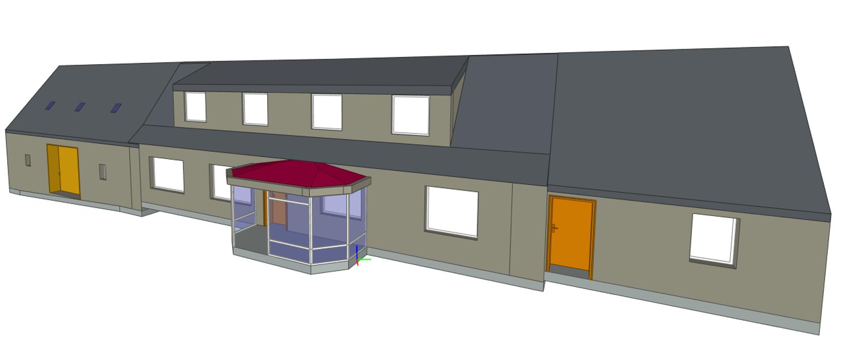 Maquette 3D d'une maison ancienne avant rénovation compléte- Lannion (22) 0