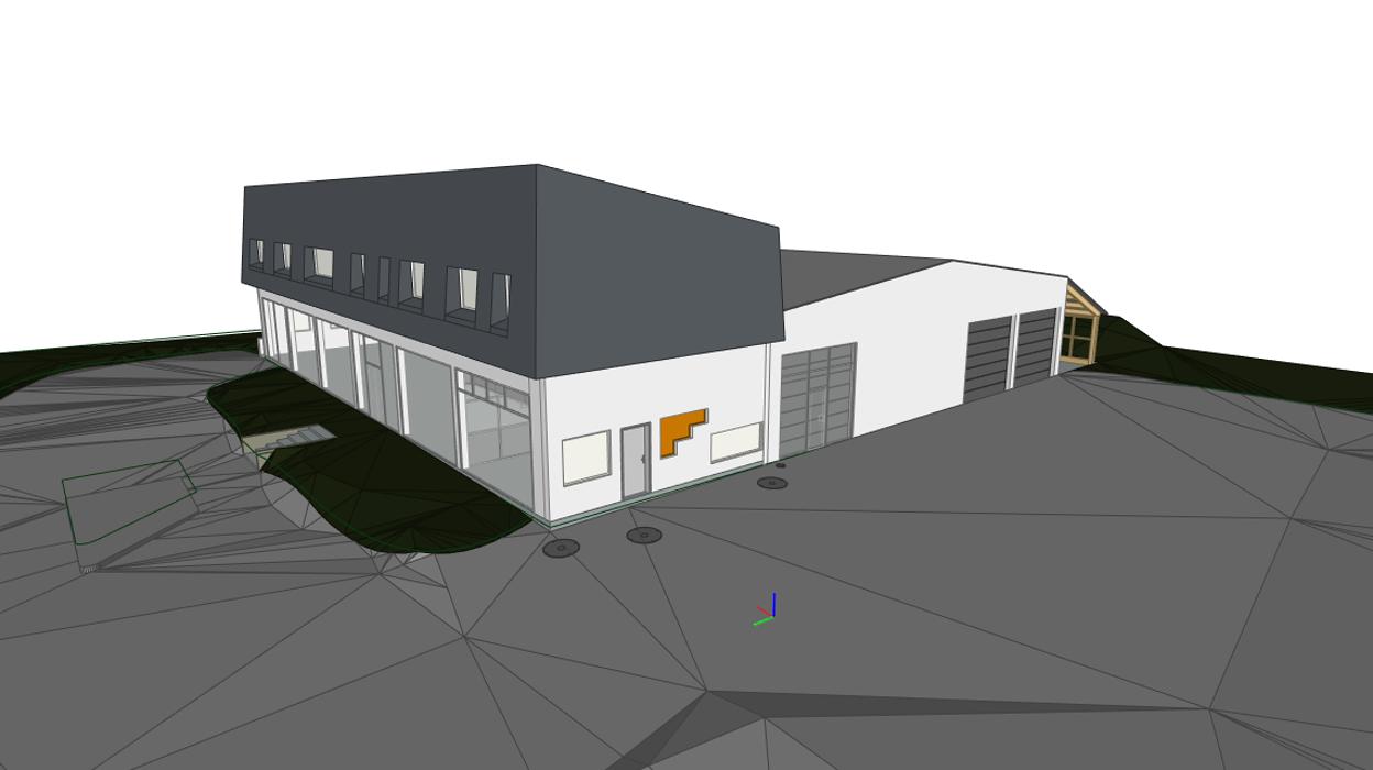 Maquette 3D d'un bâtiment en reconversion - Treveneuc (22) 0