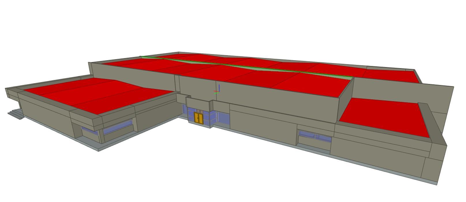 Maquette 3D d'une surface commerciale - St Martin des Champs (29) 0