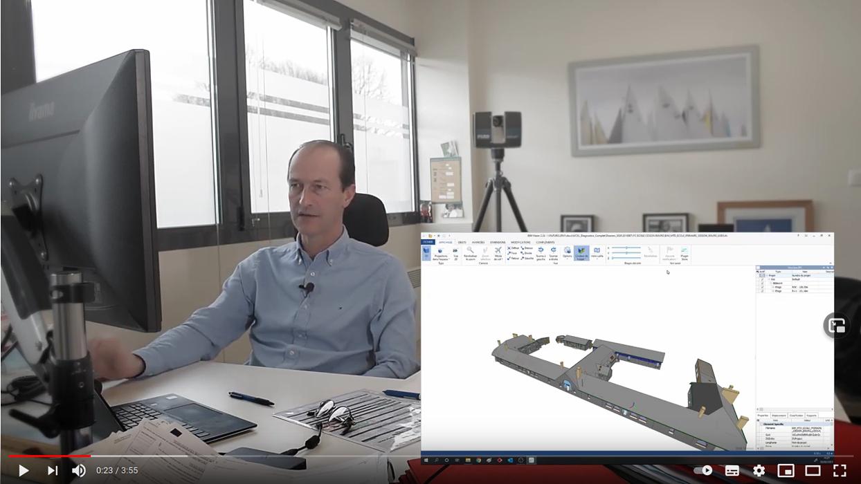 Vidéo :Maquette numérique : Le livrable à l''issue de la prestation de numérisation - Démonstration 0